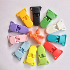 10x Random Color Plastic Baby Suspender Soother Pacifier Holder Dummy Clips Pop