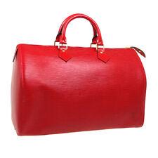 LOUIS VUITTON SPEEDY 35 HAND BAG SP0947 PURSE RED EPI LEATHER M42997 03672