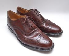 Fabulous Genuine Vintage Rich Brown Leather Brogues by Clarks