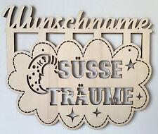 Bild Süße Träume Schild mit Name personalisiert Wunschname Geburtsgeschenk Taufe