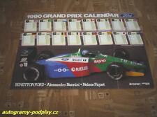 Alessandro NANNINI (Benetton /1990/) - Autosport/Ford poster cca 8xA4 Format