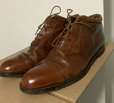 Johnston And Murphy Domani Made In Italy Chukka Boots Brown Cap Toe Men's 10.5 M