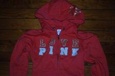 Victoria's Secret VS LOVE PINK Orange Sweatshirt Hoodie (Small)