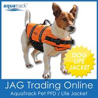 AQUATRACK DOG LIFE JACKET - PET PFD ORANGE SAFETY VEST BUOYANCY FLOTATION AID