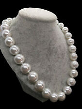 New AAA High Luster White Sea Shell Pearl Women Wedding Bridesmaid Necklace