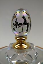 FENTON EGG OPAL IRID 14K GOLD Croquette Couple #d 1692 51407U MIB freeUSAship