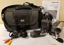 Panasonic Pv-Gs31 MiniDv Camcorder Sd Record Transfer + Accessories See Video!