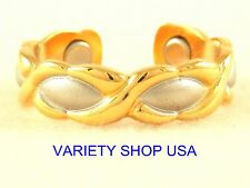 Alloy Adjustable Band Ring Hugs & Kisses Gold & Silver #R015