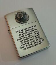 Rare Vietnam Sergeant Martinez ZIPPO Lighter, circa 2009