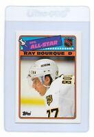 RAY BOURQUE 1988 TOPPS Sticker Boston BRUINS NHL Hockey All-Star Trading CARD #5