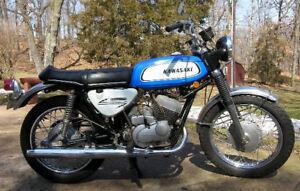 Kawasaki  1969 - 1971 A1 A7 Headstock Decal / VIN tag
