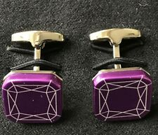 Paul Smith Purple Foil Patterned Cufflinks
