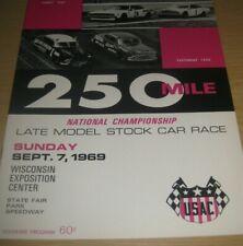 1969 USAC 250 Mile Nat'l Championship Stock Car Race Wisconsin State Fair Park