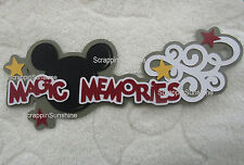 DISNEY MAGIC MEMORIES - Die Cut Title Premade Paper Piece for Pages - SSFFDeb