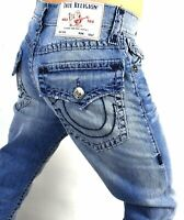 True Religion $229 Geno Relaxed Slim Two-tone Super T Jeans - 102027 Size 31x32