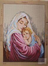 Vintage European Lady Gobelin Tapestry Needlepoint Canvas 307