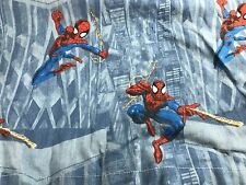 Spiderman Marvel Comics Twin Bed Sheet Flat Super Hero Spider Sense Blue
