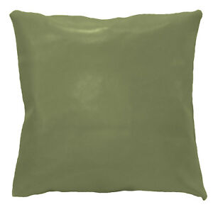 pe207a Olive Faux Leather Classic Pattern Cushion Cover/Pillow Case Custom Size