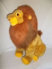 "DISNEY 30"" Plush ADULT SIMBA MUFASA Large LION KING Stuffed Animal Big Jumbo Vtg"