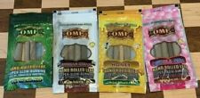 KING PALM OME VARIETY PACK NATURAL LEAF WRAPS 4 PACKS 12 ROLLS HONEY BUBBLE GUM