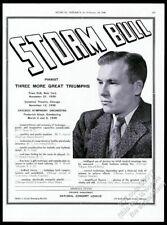 1940 Storm Bull photo piano recital tour booking trade print ad