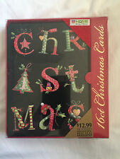 Holiday Christmas Cards 16 Cards With Envelopes All One Design New