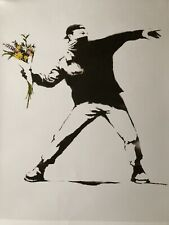 Banksy Moco Poster. Flower Thrower . New!