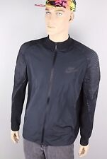 $120 Men's Nike Athletic Black & Charcoal Textured Sleeve Track Jacket Size XXL
