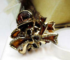 ConMiGo SOH0015 brown hairstyling crystal embellished acrylic jaw hair clip