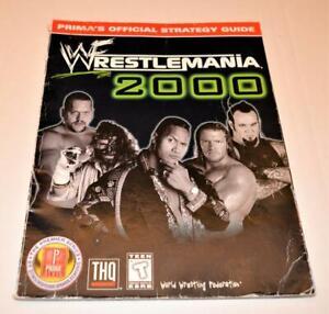 WWF Wrestlemania 2000  Prima's Official Strategy Guide Nintendo 64 Gameboy Color