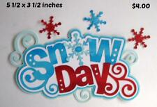 SNOW DAY TITLE Winter girl boy 3D die cut scrapbook paper piecing by Rhonda