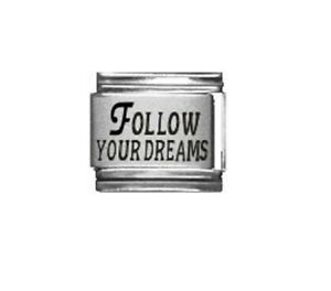 9mm Italian Charms L81 Follow Your Dreams Fits Classic Size Bracelet