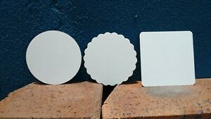 Drink Coaster Blank Coaster Board x 100 for Weddings and Parties (Craft)