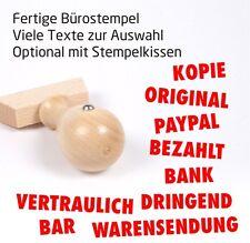 Fertige Stempel Holzstempel BEZAHLT GEBUCHT GEFAXT KOPIE ERLEDIGT ORIGI… [#1164]