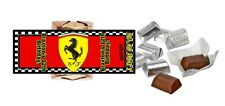30 FERRARI LOGO PERSONALIZED HERSHEY'S NUGGET WRAPPERS BIRTHDAY PARTY FAVORS