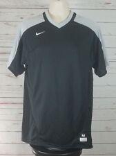 Nike Dri-Fit Sports Shirt Large Black Grey Short Sleeve