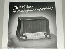 1951 GE RADIO 422  advertisement for General Electric Table Radio model 422