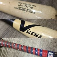 SAM TRAVIS BOSTON RED SOX GAME USED BROKEN BASEBALL BAT