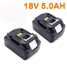 2x For Makita 18V 5.0AH BL1850 BL1840 BL1830 BL1815 Lithium Ion Battery Cordless