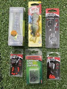 Set of Predator Tackle - Inc. Daiwa D-Popper Frog Lure Fox Rage Stinger Bait etc