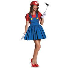 Plus Size Adult Super Mario Luigi Dress Costume Women's Halloween Party Outfit