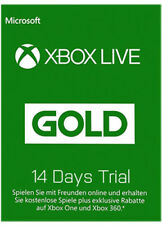 XBOX 360 LIVE 14 TAGE ONE GOLD TESTMITGLIEDSCHAFT KEY 14 days subscription CODE