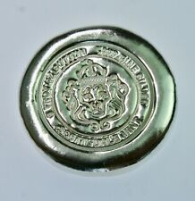 5 oz. Silver Poured/stamped Button by Scottsdale Mint .999 Finebullion