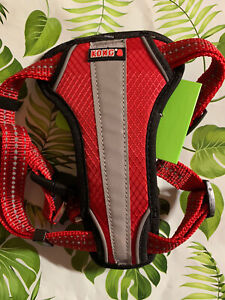 Kong Small Red Comfort + Reflective Padded Chest Plate Harness -Dog - Puppy