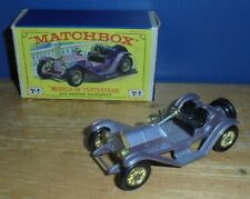 Matchbox Yesteryear Y7 Mercer Raceabout Type 35J Lilac Short Lamp Issue 6