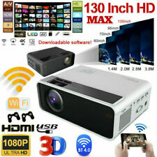 Portable Projector 16:9 1080P HD 4K 3D Movie Theater Game Home Cinema Wireless