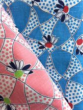 Vintage Partial Feed Sack Lot: Floral and Dots Same Design Color Variations