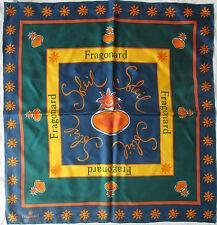 -Superbe  Foulard FRAGONARD parfumeur   100% soie  TBEG vintage scarf