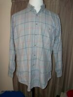 MEN'S GITMAN BROS NORMAN STOCKTON STRIPED SHIRT L LARGE BUTTON