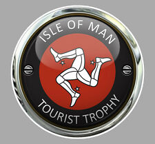 ISLE OF MAN TOURIST TROPHY TT ILE DE MAN BIKER 7,5cm STICKER RACING TRACK IA087